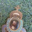 Antigüedades: PRECIOSO ECCE HOMMO ESMALTE SOBRE PORCELANA. Lote 145419153