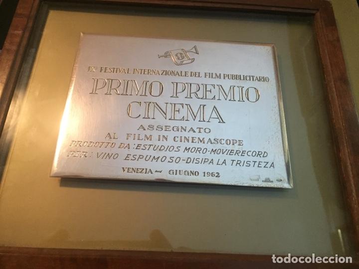 GALARDÓN PRIMER PREMIO IX FESTIVAL INTERNACIONAL VENECIA 1962 (Antigüedades - Platería - Plata de Ley Antigua)