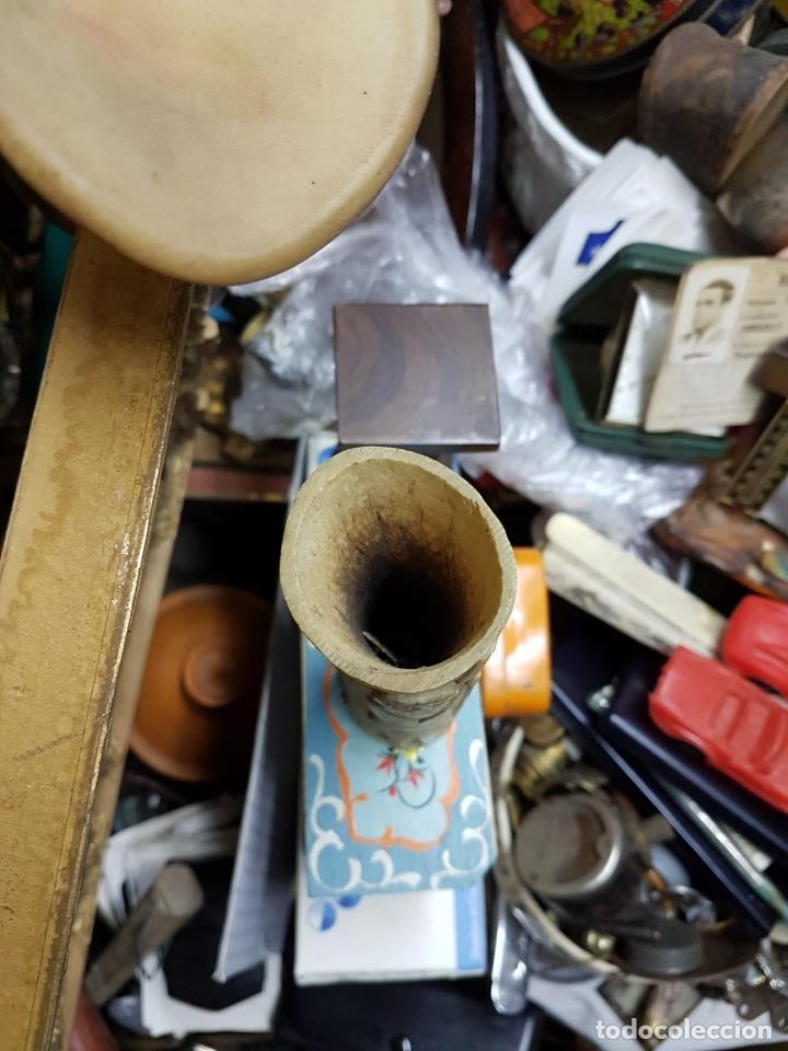 Antigüedades: CUERNO DE MARFIL TALLADO ANTIGUO ETNICO AFRICANO,SIGLO XIX APROX - Foto 6 - 145476054