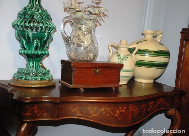 Antigüedades: MUY BONITA CONSOLA CON MARQUETERÍA - Foto 8 - 79985857