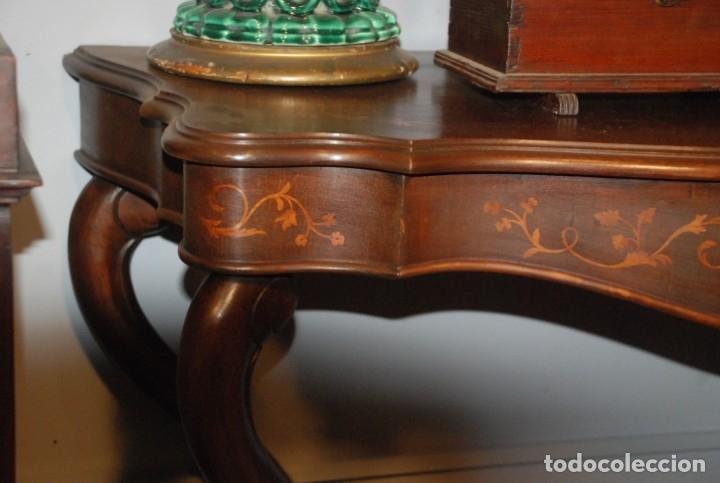 Antigüedades: MUY BONITA CONSOLA CON MARQUETERÍA - Foto 13 - 79985857