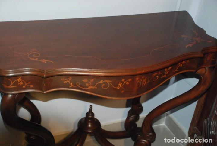 Antigüedades: MUY BONITA CONSOLA CON MARQUETERÍA - Foto 19 - 79985857