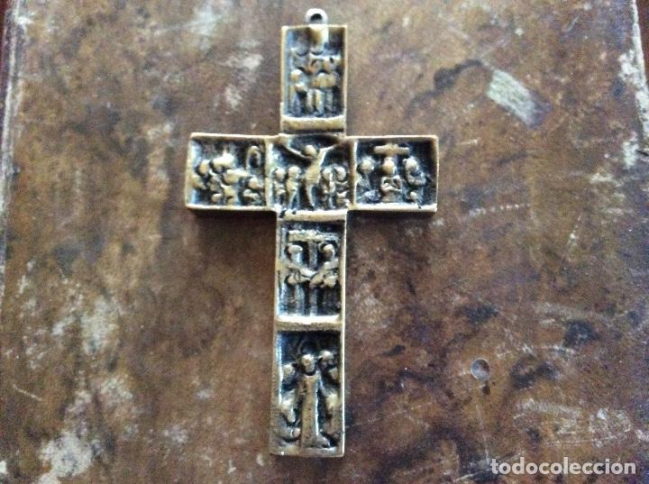 CRUCIFIJO DE BRONCE 9CMX5CM. (Antigüedades - Religiosas - Crucifijos Antiguos)