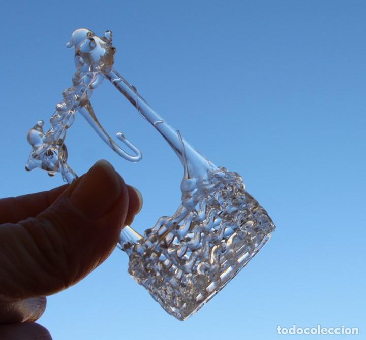 Antigüedades: Pozo de cristal soplado en filigrana con pan de oro, pájaros y cubito - Foto 4 - 145511090