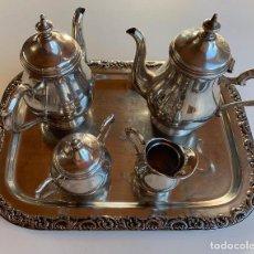 Antigüedades: JUEGO CAFÉ/TÉ ALPADUR CON BANDEJA. Lote 145516102