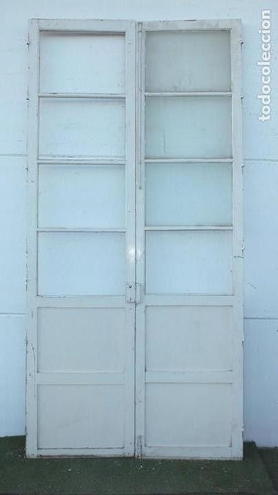 Antigüedades: Puerta cristalera antigua - Foto 3 - 145530102
