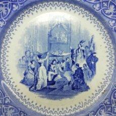 Antigüedades: W ADAMS & SONS SERIE SPANISH MARRIAGES MADRID S. XIX, MEDIDAS 23,5 CM.. Lote 145532117