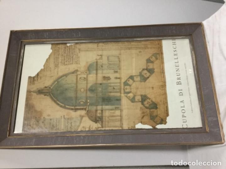 Antigüedades: Maravilloso Marco con poster bruneleschi - Foto 4 - 145538566
