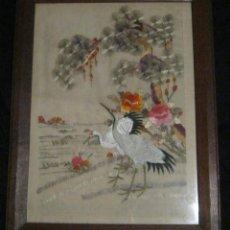 Antiquitäten - ANTIGUO BORDADO JAPONES ENMARCADO PPIO,S,XX - 145538574