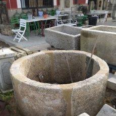Antigüedades: ANTIGUO BROCAL DE POZO EN PIEDRA DE GRANITO GRAN DIMENSION. 6 PIEZAS. Lote 145553764