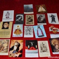 Antigüedades: LOTE DE RECORDATORIOS RELIGIOSOS, SALUDOS,ORACIONES,FOLLETOS, ETC. Lote 145561358