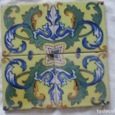 Antigüedades: AZULEJOS PINTADOS TRIANA SIGLO XIX. Lote 145570610