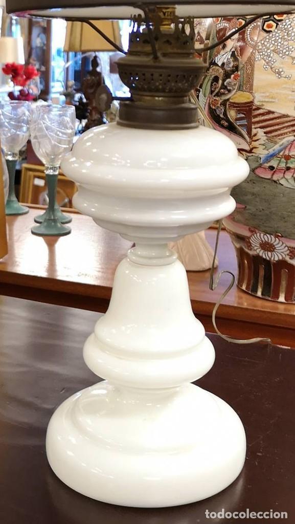Antigüedades: Quinqué opalina - Foto 2 - 145584430