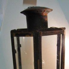 Antigüedades: ANTIGUA LINTERNA O FAROL FERROVIARIO. Lote 145598046