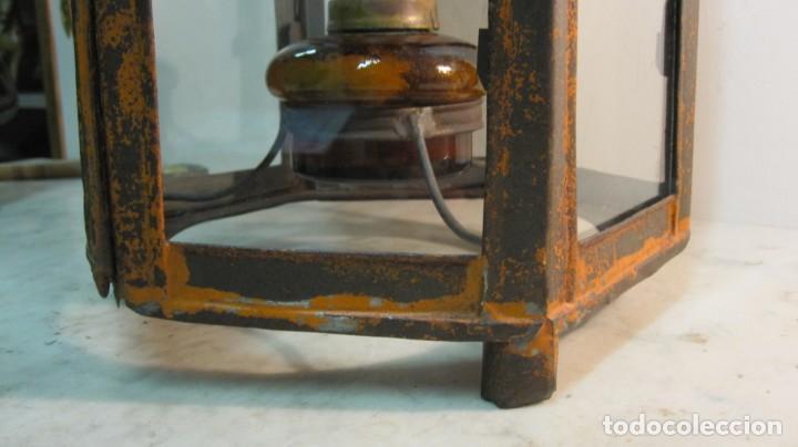 Antigüedades: ANTIGUA LINTERNA O FAROL FERROVIARIO - Foto 5 - 145598046