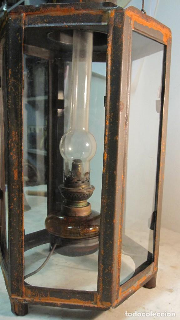 Antigüedades: ANTIGUA LINTERNA O FAROL FERROVIARIO - Foto 6 - 145598046