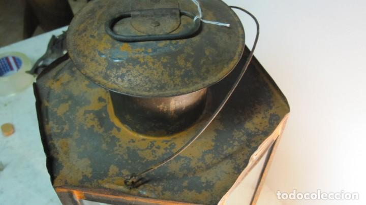 Antigüedades: ANTIGUA LINTERNA O FAROL FERROVIARIO - Foto 7 - 145598046