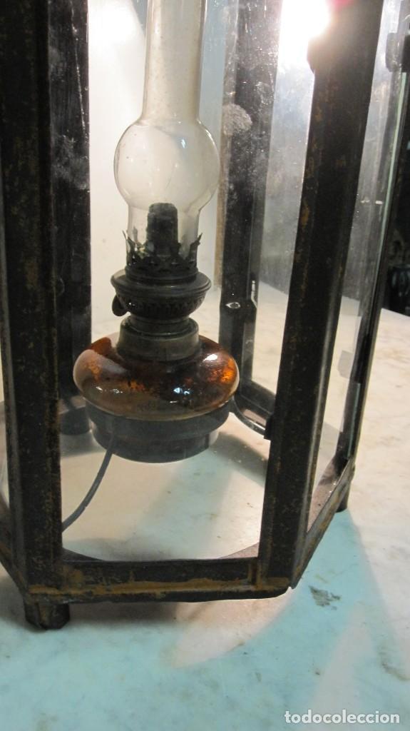 Antigüedades: ANTIGUA LINTERNA O FAROL FERROVIARIO - Foto 12 - 145598046