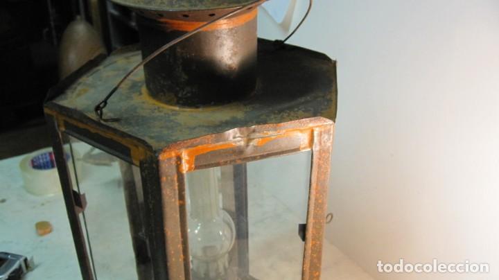 Antigüedades: ANTIGUA LINTERNA O FAROL FERROVIARIO - Foto 13 - 145598046