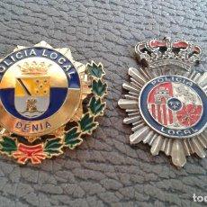 Antigüedades: LOTE INSGINAS POLICIA LOCAL DE DENIA Y POLICIA LOCAL. Lote 145625842