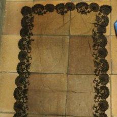 Antigüedades: MANTILLA ENCAJE, IDEAL ATREZZO. 60 X 1,20 M. Lote 145627574