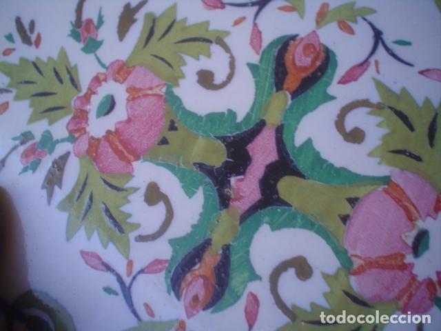 Antigüedades: muy antiguo y grande azulejo manises xix ? - Foto 2 - 145629262