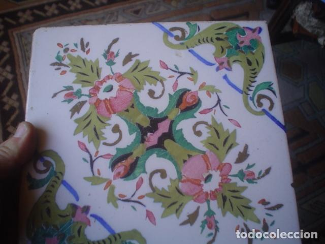 Antigüedades: muy antiguo y grande azulejo manises xix ? - Foto 4 - 145629262