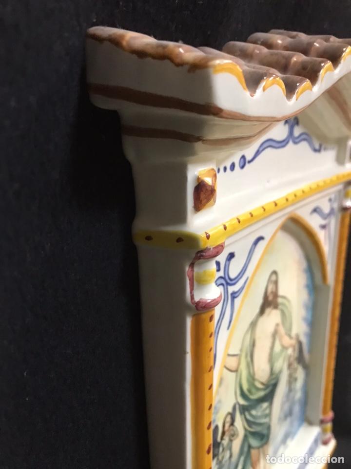 Antigüedades: Tejadillo Benditera cerámica de talavera - Foto 3 - 145633737