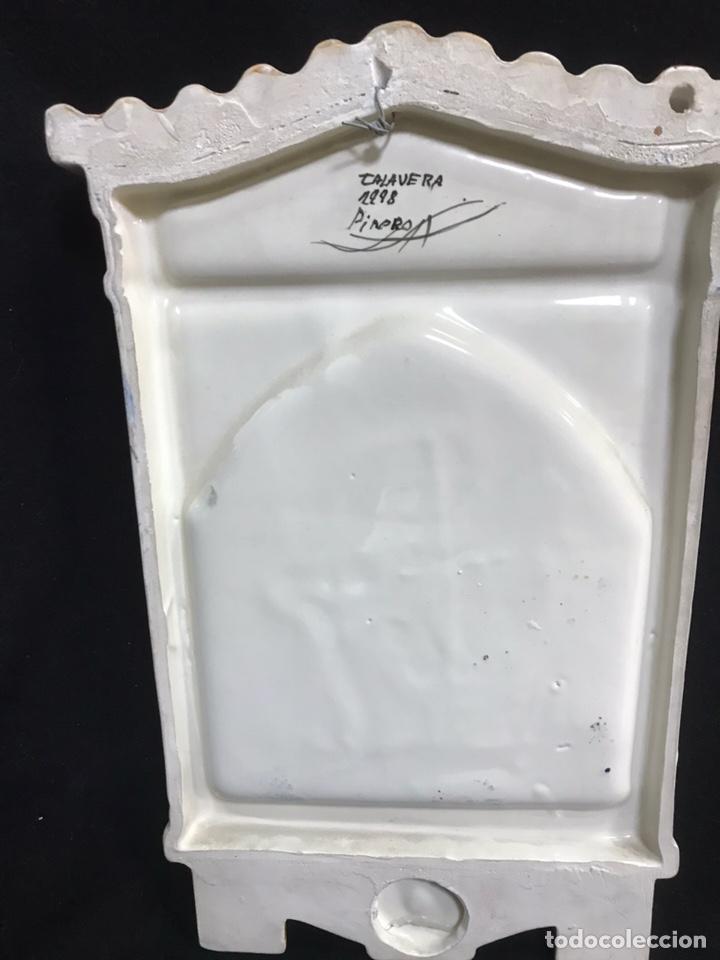 Antigüedades: Tejadillo Benditera cerámica de talavera - Foto 4 - 145633737