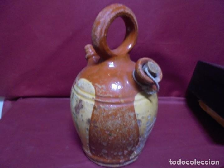 Antigüedades: magnifico antiguo canti en ceramica vidriada del siglo XIX - Foto 3 - 145634454