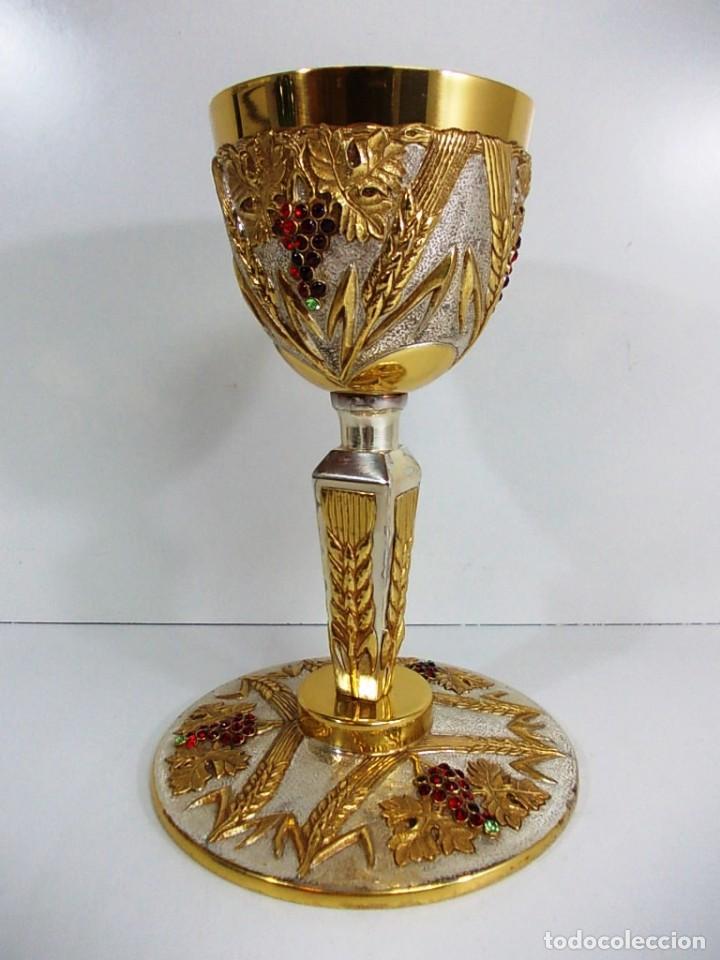 Antiquitäten: Magnifico Cáliz con baño de oro y plata - Foto 2 - 145635546