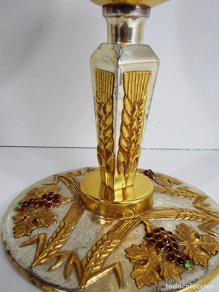 Antiquitäten: Magnifico Cáliz con baño de oro y plata - Foto 4 - 145635546