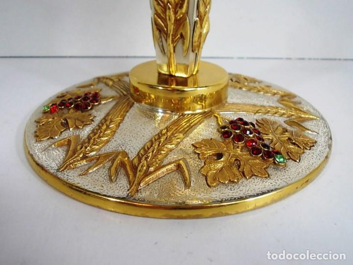 Antiquitäten: Magnifico Cáliz con baño de oro y plata - Foto 5 - 145635546