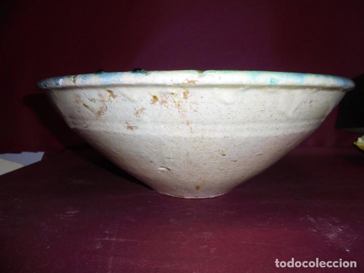 Antigüedades: magnifico gran plato de ceramica española siglo XIX - Foto 2 - 145639854