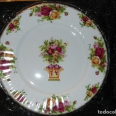 Antigüedades: ROYAL ALBERT OLD COUNTRY ROSES PLATO DE CELEBRACIÓN . Lote 145652358