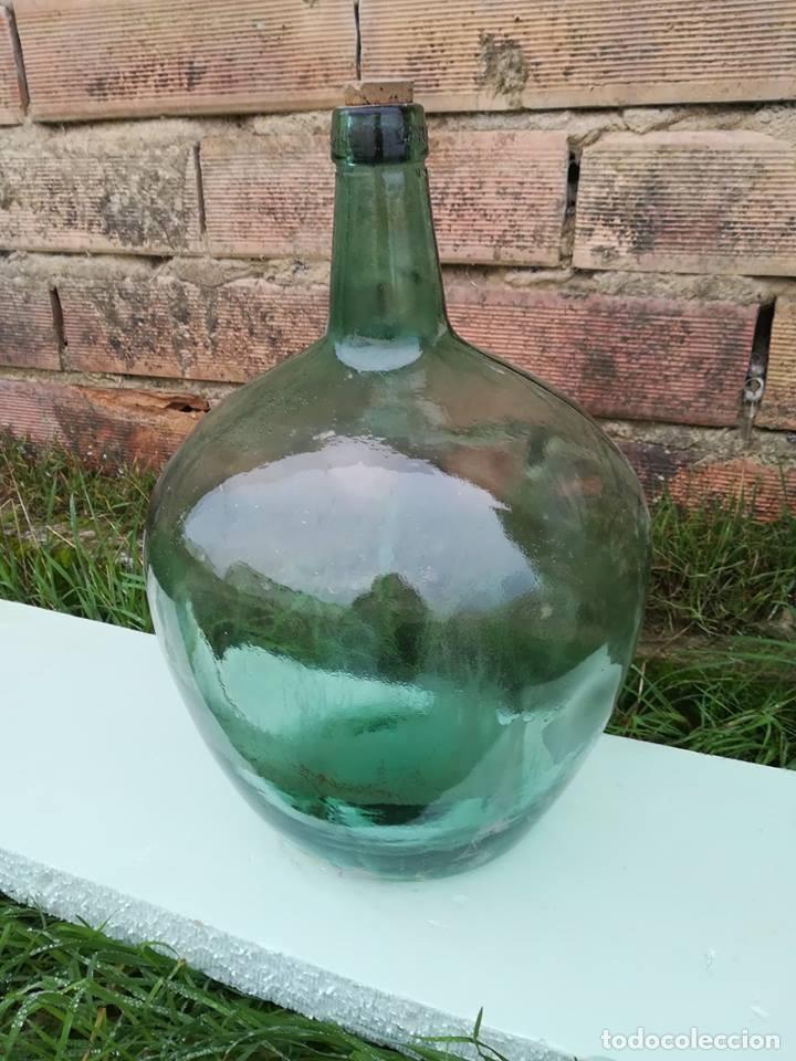 DAMAJUANA GARRAFA CRISTAL MARCA EN CUELLO V.AYELENSE (Antigüedades - Cristal y Vidrio - Otros)