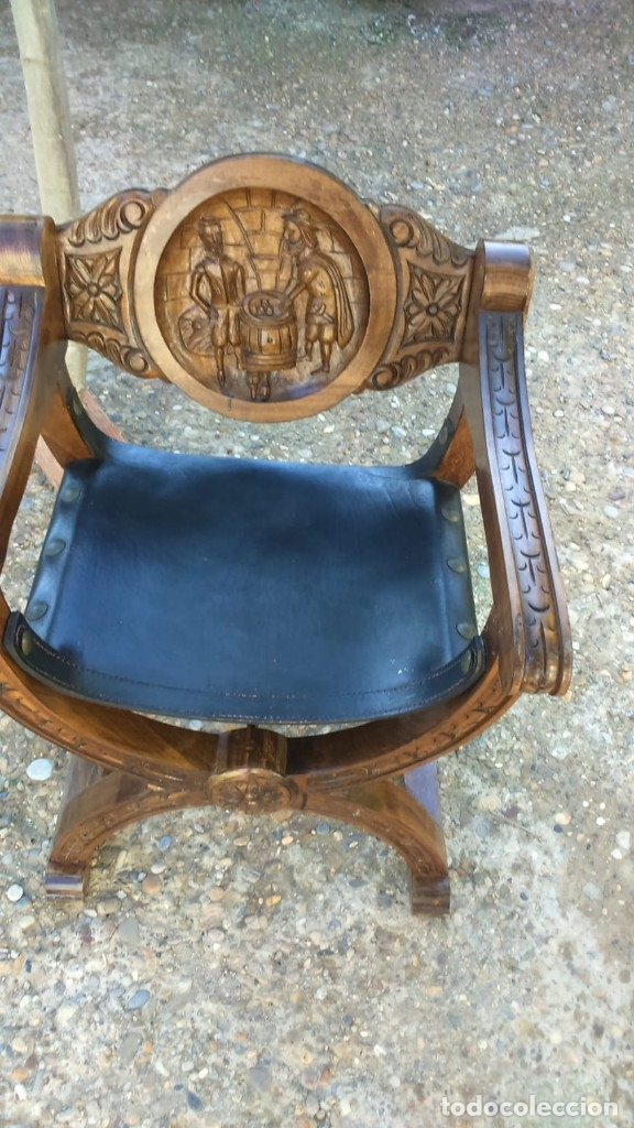 Antigüedades: Pareja sillones de fraile jamuga - Foto 2 - 145656374