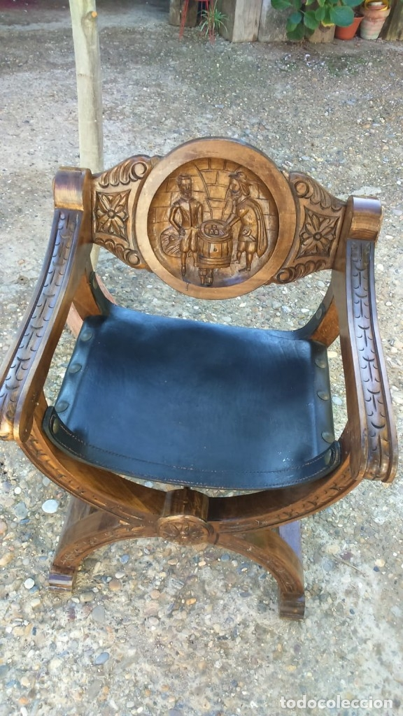Antigüedades: Pareja sillones de fraile jamuga - Foto 3 - 145656374