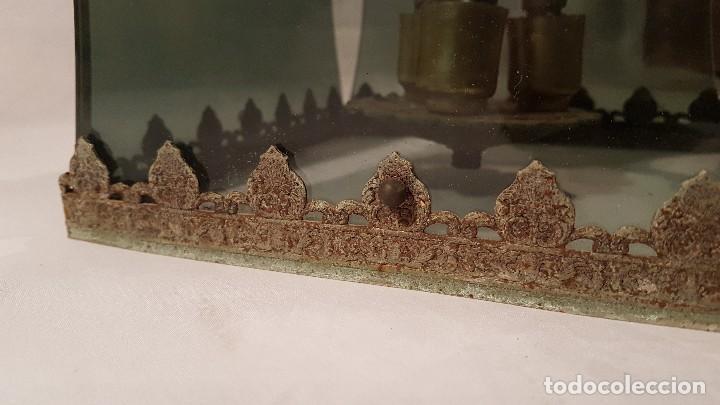 Antigüedades: ANTIGUA LAMPARA DE TECHO FORJA Y CRISTAL AHUMADO AÑOS 50 - Foto 2 - 145656718