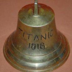 Antigüedades: CAMPANA DE METAL TITANIC 1818. Lote 145657470