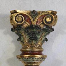 Antigüedades: MENSULA EN RESINA POLICROMADA. Lote 146968237