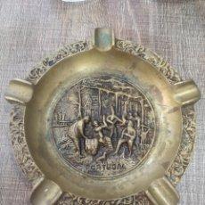 Antigüedades: CENICERO BRONCE PORTUGAL. Lote 145689393