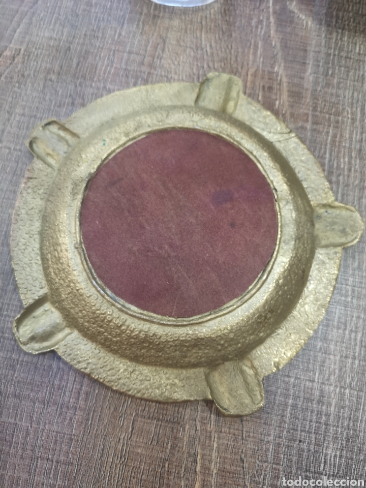 Antigüedades: CENICERO BRONCE PORTUGAL - Foto 3 - 145689393