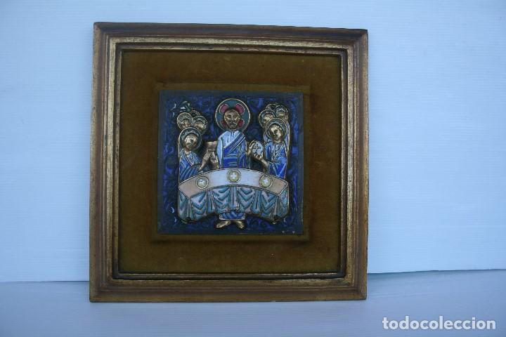 Antigüedades: MODEST MORATO (1909 - 1993) EXTRAORDINARIO ESMALTE , SANTA CENA . - Foto 10 - 145705630