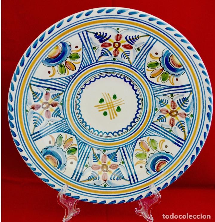 PLATO CERAMICA PUENTE DEL ARZOBISPO 28 CM DE DIAMETRO (Antigüedades - Porcelanas y Cerámicas - Puente del Arzobispo )