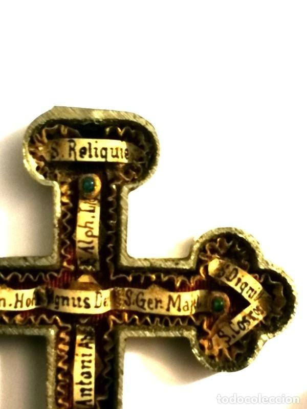 Antigüedades: RELICARIO EN METAL, MADERA Y BRONCE - Foto 11 - 132462082