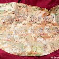 Antigüedades: CAPA BORDADA CON MOTIVOS FLORALES. VALENCIA S. XVIII.. Lote 145747561