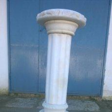 Antigüedades: PEDESTÀL DE MARMOL PARA ESCULTURA. Lote 145793806