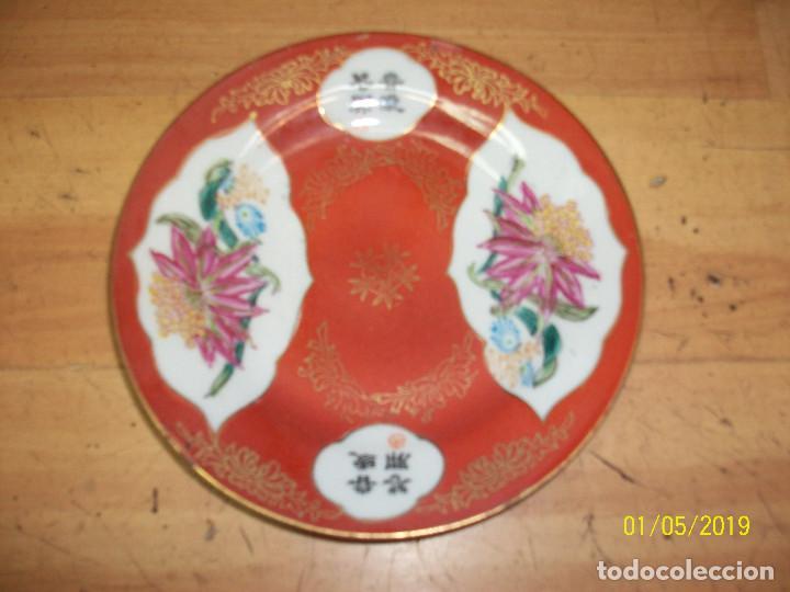 ANTIGUO PLATO CHINO (Antigüedades - Porcelanas y Cerámicas - China)