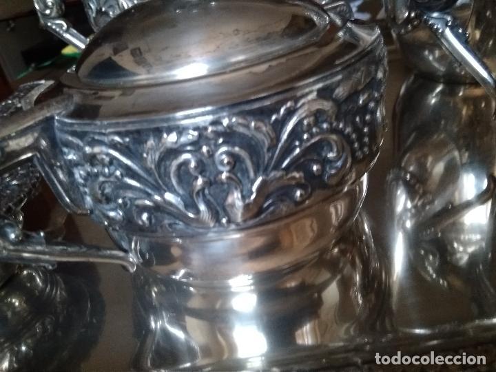 Antigüedades: BONITO JUEGO CAFE O TE EN PLATEADO INGLES DEL SIGLO XIX - Foto 4 - 145820842